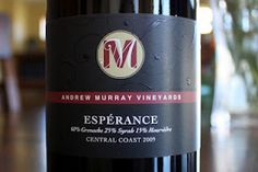 Andrew Murray Vineyards Esperance 2009 - A Rollercoaster of Flavors You'll Want To Ride Again and Again. $19