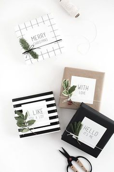 Easy Gift Wrap: Gift Tag Stickers - Homey Oh My!