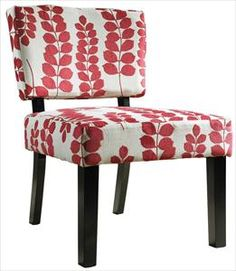 Nebraska Furniture Mart – Powell Red & Cream Floral Oliver Accent Chair