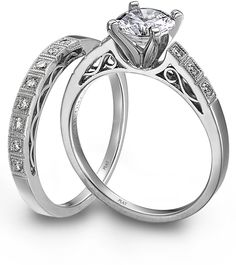 Plain white gold or silver wedding band for the wedding...