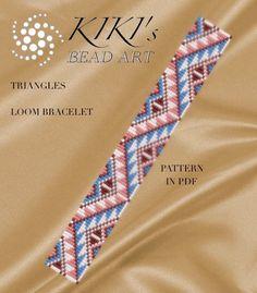 Bead loom pattern  Triangles ethnic inspired LOOM door KikisBeadArts