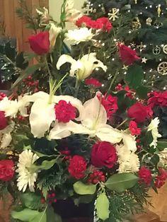 Christmas Eve 2012 church flowers