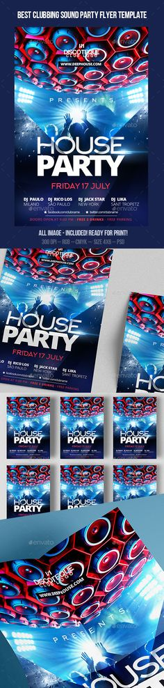 House Party Flyer Design Template #advertisement #bash #best #birthday #black #club #concert city #deep #disco,dj #djs #dubstep #electro #electronic #flyer #frame #house #night #nightclub #party #poster #progressive #smoke #speakers #SpecialGuest #suit #template #vip You can take it here: http://graphicriver.net/item/house-party-flyer-design-template/12053398?ref=bigweek