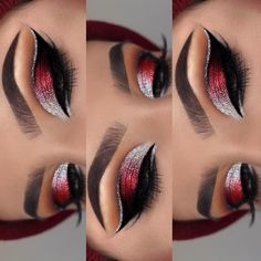 50 Flawless Silver Eye Makeup Looks You Need To Try Loading. 50 Flawless Silver Eye Makeup Looks You Need To Try Silver Eye Makeup, Red Eye Makeup, Makeup Eye Looks, Beautiful Eye Makeup, Colorful Eye Makeup, Eye Makeup Tips, Smokey Eye Makeup, Cute Makeup, Makeup Ideas