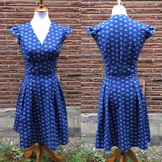 Blue Bicycle Retro Dress small and large