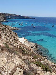 Spiaggia dei conigli (rabbits' beach), Lampedusa, Italy  #lampedusa #sicily #sicilia