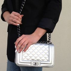 Silver bag! Brand new! This small handbag is so perfect for any look! Quality is great, brand new without tags, color silver, & very durable! culture riot Bags