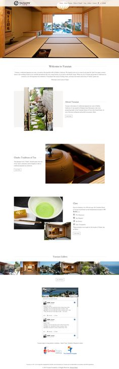 Yusuian, a traditional Japanese tea room, is located on the beautiful cliffs of Malibu, California. Modern Website, Japanese Tea Ceremony, Malibu California, Portfolio Website, Traditional Japanese, Japanese Culture, User Interface, Wordpress, Branding
