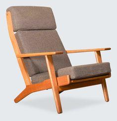 Designer Hans Wegner GE290 WEGNER HIGH BACK PLANK CHAIR