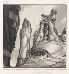 Lebbeus Woods, D-QUAD. OAN: Biomechanical and Biodynamic Towers, from the series Centricity, 1987 Architecture Drawings, Concept Architecture, Futuristic Architecture, Historical Architecture, Structural Drawing, Lebbeus Woods, Amazing Buildings, Photoshop, Environmental Art