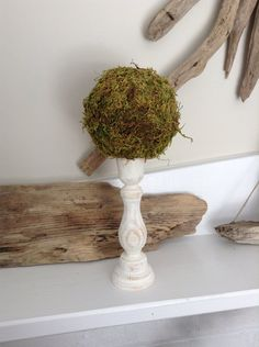 Moss Topiary Topiary Moss Ball 1 Small Table Decor by JBJunkMarket, $19.50