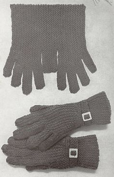 Beautiful vintage gloves pattern from Minerva. More Patterns Like This! Crochet Gloves Pattern, Mittens Pattern, Knitted Gloves, Knitting Patterns, Sewing Patterns, Knitting Books, Vintage Knitting, Crochet Quilt, Knit Crochet