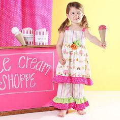 Sweet outfit by Lisa Mirabelli Design. On zulily today!