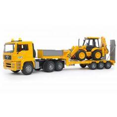 Bruder Toys - Loader truck with backhoe