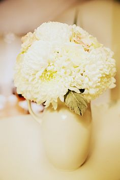 Soft color bride bouquet freshly arranged