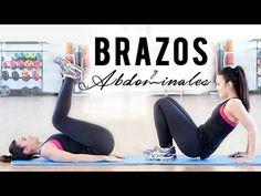 Rutina de ejercicio para trabajar los brazos y los abdominales. Ideal para principiantes