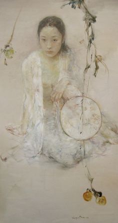 Hu Jundi was born in China in Jilin province in 1962 & graduated from SW Chongqing U Fine Arts Dept in 1984 & resides in Sichuan Leshan. He is one of the most intriguing painters in the world, & is recognized for his ability to bring forth a sense of delicate serenity & harmony. He has mastered the fusion of traditional Chinese brush w/ the unmatched depth of oil painting, & melded Eastern & Western culture w/ complete integrity. Hu Jundi expresses the poems in his heart through paint on…