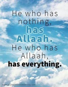 Allah is everything