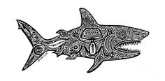 Choose your favorite tropical fish drawings from millions of available designs. All tropical fish drawings ship within 48 hours and include a money-back guarantee. Tribal Drawings, Fish Drawings, Doodle Drawings, Hai Tattoos, Body Art Tattoos, Tribal Hai, Tribal Images, Shark Drawing, Tattoo