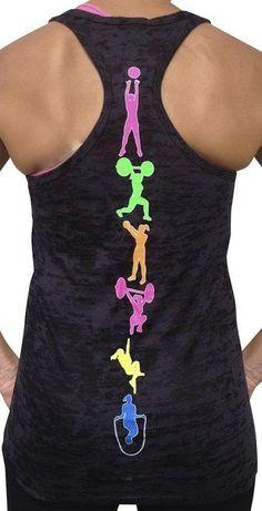 SoRock Women's Fitness Moves Tank Top Small Black - Great crossfit work tee