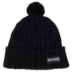 Grenade #PomPom Beanie Folded Thick Cable Knit Hat Logo Lable One Size OSFM #Grenade #Beanie #pombeanie