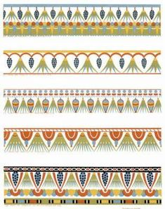 Egyptian Patterns and Designs | ancient egyptian ornament in full color 350 patterns and designs by ...