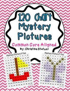120 Chart Mystery Pictures {CCSS Aligned} This is a set of 10 mystery pictures on a 120 chart that are aligned to the common core standards. They range from Kindergarten to grade standards. Each mystery picture applies to a math skill. Math Classroom, Kindergarten Math, Teaching Math, Classroom Ideas, Math School, School Fun, Spring School, School Stuff, School Ideas