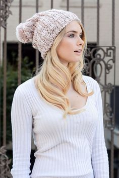 Slouchy Soft Sheen Beanie - Pink - $14.50