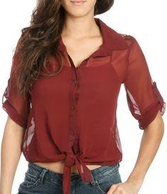 Modelos de blusas de gasa para señoras - Imagui