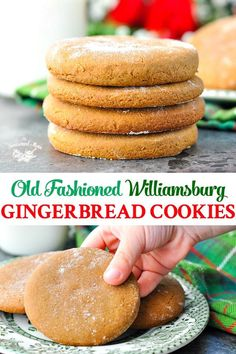 These simple and delicious Old-Fashioned Williamsburg Gingerbread Cookies are the perfect classic Christmas cookies! These simple and delicious Old-Fashioned Williamsburg Gingerbread Cookies are the perfect classic Christmas cookies! Holiday Cookies, Holiday Treats, Holiday Recipes, Christmas Recipes, Christmas Cookies Simple, Healthy Christmas Treats, Fall Cookies, Holiday Candy, Family Recipes
