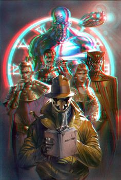 Watchmen in 3D Anaglyph by ~xmancyclops on deviantART