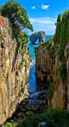La Canalina, a small inlet in the Llanes coast, Asturias, Spain (by guillenperez) like travel# Oh The Places You'll Go, Places To Travel, Places To Visit, Wonderful Places, Beautiful Places, Magic Places, Asturias Spain, Spain And Portugal, Spain Travel