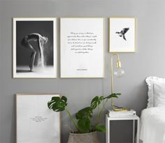 Mix and match your posters on the floor, desks and on your walls to create that complete look! Head over to our webshop to see more inspiration for your bedroom at, www.desenio.com.