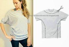 Puedes crearte una blusa cómoda casual de fines de semana o para hacerte tus quehaceres, anda por la camisa grande de tu hermano, tio , papa etc :)