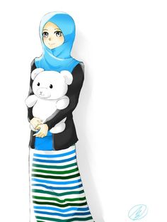 muslimah version of a real person i drew as a gift by sakurapulse