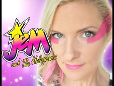 Jem & the Holograms (2015) Makeup Cosplay Face Paint Costume Tutorial - YouTube