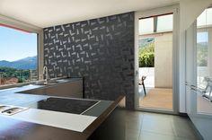 ATITUDE - Ambiente preto me atrai! Alcove, Divider, Bathtub, Metal, Room, Furniture, Home Decor, Tiling, Environment