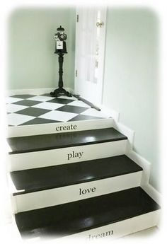 stairs that are painted