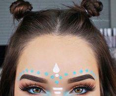 cutest festival hair + makeup