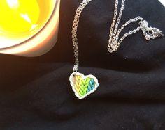 Un preferito personale dal mio negozio Etsy https://www.etsy.com/listing/230240498/knitted-heart-necklace-polymer-clay