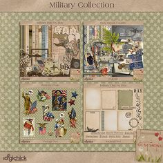 Military Collection Bundle - i love this collection by Kimeric.  I think she's one of my top five favorite digiscrappin' designers.