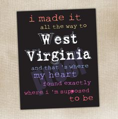 home is where the heart is <3 WV