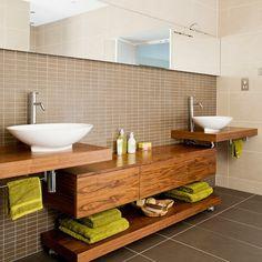 Holz Mosaik Fliesen-badezimmer fliesen ideen | Interieur Design ... | {Badezimmer ideen holz 67}