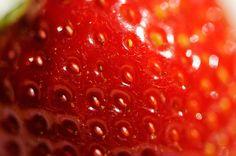 Makroaufnahme Erdbeere