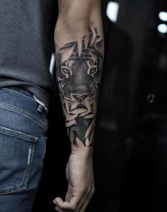 by Avihoo Ben Gida lion tattoo 90 Tiger and Lion Tattoos That Define Perfection - Page 4 of 9 - Straight Blasted Mens Tiger Tattoo, Tiger Tattoo Sleeve, Lion Tattoo Sleeves, Tiger Tattoo Design, Sleeve Tattoos For Women, Back Tattoo, Tattoos For Guys, Body Art Tattoos, Hand Tattoos