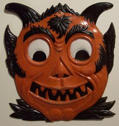 vintage halloween devil mask share hit the pin to buy - Halloween Vintage Decorations