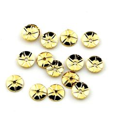 15pcs 6mm Gold Plated  Bead Cap Spacer by FancyGemsandFindings, $3.99