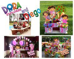 DORA THE EXPLORER Birthday Party Centerpiece  3 by playpatterns