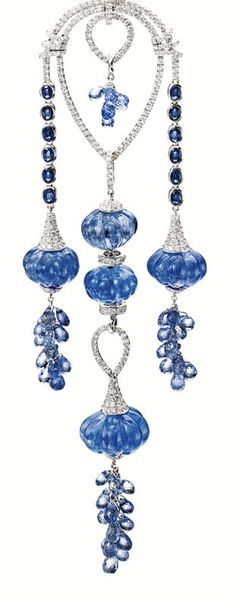 Sapphire and diamond Pendant - Sotheby's magnificent jewels auction