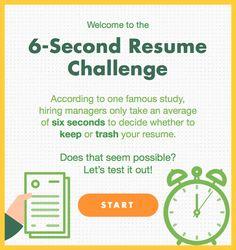infographic 6 second resume average joes vs recruiters